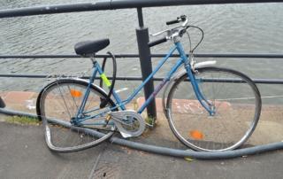 bicicleta dañada